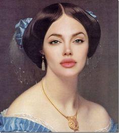 Angelina Jolie Renaissance painting