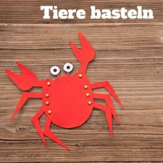 Animals make with free templates. Crustaceans, dragons, tigers, fish – even … - Happy Tiere School Projects, Projects For Kids, Diy For Kids, Crafts For Kids, Diy And Crafts, Arts And Crafts, Mermaid Under The Sea, Post Animal, Rainy Day Activities