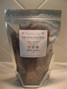 Top Dog Kitchen produces #dog #treats that are free of corn, wheat, and soy with no added preservatives. http://topdogkitchen.com/ Pets pawsitively love their freshly baked and dehydrated #treats that come in a variety of USDA grade meats. Are you looking for pet treat packaging? Please learn more on our #packaging website: http://www.standuppouches.net/pet-food-packaging-stand-up-pouches/?utm_source=pinterest&utm_medium=description&utm_campaign=Pet%20Food%20and%20Treats