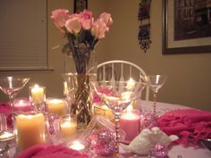 Aunt Nutty's Nutty Life...: Pink Tablescape for Breast Cancer Awareness Month
