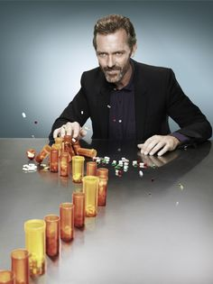 Hugh Laurie as Dr. Gregory House from HOUSE on FOX.