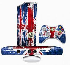 Xbox 360 Kinect Celebration Pack is dressed as the Union Jack Xbox 360, Kinect Xbox, Gadgets And Gizmos, Cool Gadgets, Xbox Games, Fun Games, Gta, Arcade, Custom Consoles