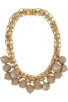 Gold-plated beaded necklace by Marni