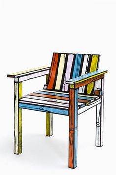 These furniture peaces by Richard Woods and Sebastian Wrong look like they were taken straight out of a cartoon show but it's just that, that makes them so intriguingly attractive.Woods and Wrong achieved this effect by tracing each edge of wood with a thick black line of paint. They also use simi ...