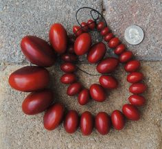 African Copal Resin Beads:  7x12-25x45mm