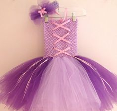 Rapunzel inspired Tutu Dress and Headband. $28.99, via Etsy....I could make this right??