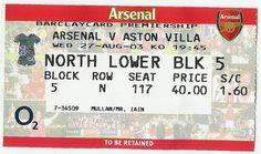 Arsenal 2 - 2 Aston Villa