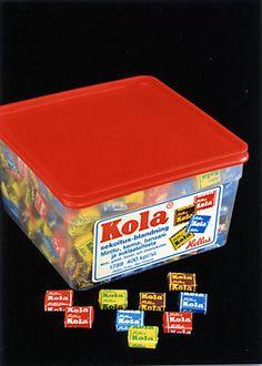 Kola-lajitelma. Ehdoton suosikkini! MIksei tätä saa enää?? #kadonnutkasari #kasari