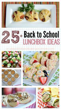 25+ Back to School Lunchbox Ideas
