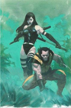 Psylocke and Wolverine