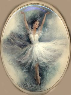 "Russische Lackmalerei  ""Ballet Dancer""  Artist: Slaeva Liliana"