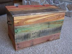 Reclaimed Pallet Wood Trunk by skramstadprimitives on Etsy