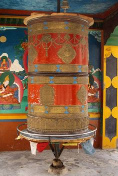 Prayer wheel of the Rizong Monastery http://pinterest.com/pin/186899453258870706/