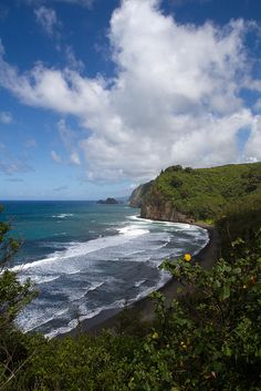 Awini Beach, Pololu Valley on The Big Island of Hawaii