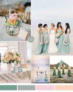 699aa5f05a2fb9a7576b72d37091189a  ocean color wedding mint green beach wedding - beach wedding color ideas