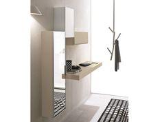 Mueble de entrada composable lacado de pared LOGIKA Colección Logika by Birex