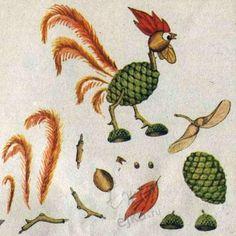 Поделки из природных материалов для детей - мастерим из шишек