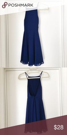 Urban Outfitters - Royal Blue Royal Blue mini dress. Open back detail, with criss-cross straps. Perfect dramatic dress to ring in NYE. 🎉 silence + noise Dresses Mini