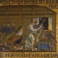 Detail of Life of Noah Mosaic at the Basilica of San Marco
