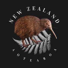 Shop New Zealand Aotearoa new zealand t-shirts designed by RaymundoSouza as well as other new zealand merchandise at TeePublic. New Zealand T Shirt, Maori Tattoo Designs, Graphic Tees, Graphic Design, Ferns, Kiwi, New Art, Bro, Hunting