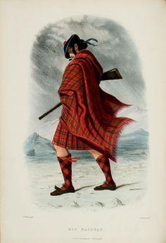 Clan Mac Nachtan (sept McCracken) ~ Scottish Highlander ~ Traditional Tartan and Arms ~ ca 1845 -Giclee print Vintage Prints, Vintage Art, Scottish Plaid, Highlanders, Scottish Highlands, Fashion History, A4 Poster, Order Prints, Artwork Prints
