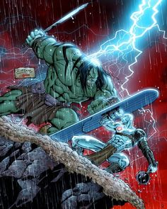 Skaar and Silver Surfer #marvel #Comics #Marvelcomics #comicbooks #uncannyavengers #avengers #ageofultron #captainAmerica #Ironman #thor #hulk #hawkeye #blackwidow #spiderman #vision #scarletwitch #civilwar #spiderman #infinitygauntlet #blackpanther #gotg #deadpool #wolverine #daredevil #thanos #silversurfer #galactus by devilzsmile.com #devilzsmile