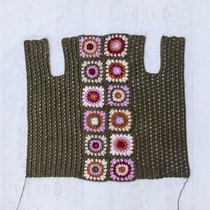 Revival Cardigan Crochet pattern by Jess Coppom Make & Do Crew Crochet Granny, Crochet Motif, Crochet Yarn, Knitting Yarn, Crochet Hooks, Crochet Patterns, Free Crochet, Joining Granny Squares, Make And Do Crew