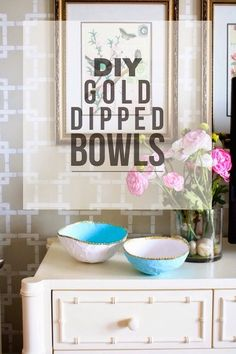 Last week Courtney, Danielle and I taught a class at Haven called High End DIY. Basically we shared our basic tips on making your DIY projects look high end and store bought instead of cheap and crafty. We each brought a DIY to share with our class. I decided to make these gold dipped nesting …