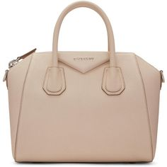 Givenchy Pink Small Antigona Bag (€1.305) ❤ liked on Polyvore featuring bags, handbags, purses, sac, clutches, pink, duffel bag, leather hand bags, givenchy handbags and pink duffle bag