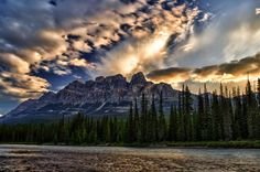 Castle Mountain, Banff National Park by Trevor Ward