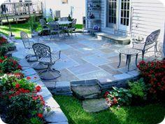 Pretty round stone patio