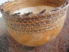 Pine needle and gourd basket