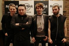 Heat 2 winners Eternal Quarter pose for a photo before taking the stage at Hard Rock Rising #HRRising #Manchester