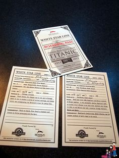 Boarding Passes for Titanic: The Artifact Expedition by iatraveler, via Flickr