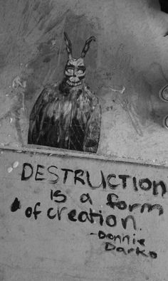 Words on wall - Donnie Darko Arte Grunge, Graffiti, Katharine Ross, Stupid Guys, Film Serie, Cultura Pop, Banksy, Movies Showing, Great Movies