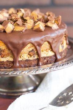 Peanut Butter Cup Brownie Cheesecake – Dan330