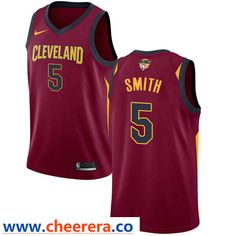86e2c923d5b Nike Cavaliers #5 J.R. Smith Red Icon Edition The Finals Patch NBA Swingman  Jersey Larry