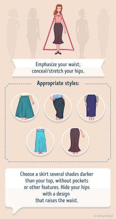 Rectangle Body Shape - What to Wear - FashionActivation Fashion Tips For Women, Fashion Advice, Pear Shape Fashion, Pear Shaped Outfits, Triangle Body Shape, Winter Typ, Pear Body, Fashion Silhouette, Fashion Vocabulary