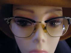 1f2ed458ae Vintage US Optical Cat Eye Eyeglass Frames Aluminum Gold Fill USA w Case