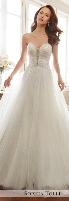 Wedding Dress by Sophia Tolli Spring 2017 Bridal Collection | Style No. » Y11703 Colette