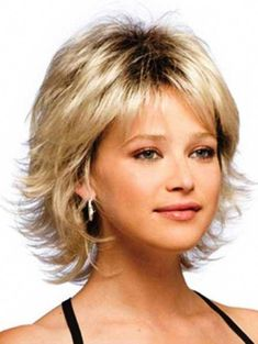 Amazing Awesome Short Layered Hairstyles Ideas Short spiky hairstyles for women have been known to have a glamorous and sassy look in quite a simple way. Women often prefer these short spiky hairstyles. Shaggy Short Hair, Medium Layered Haircuts, Short Shag Hairstyles, Short Hairstyles For Thick Hair, Haircut For Thick Hair, Short Hair With Layers, Medium Hair Cuts, Medium Hair Styles, Curly Hair Styles