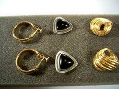 Lot of 3 Vintage Designer Signed Earrings Lot by CrowsNestJewels