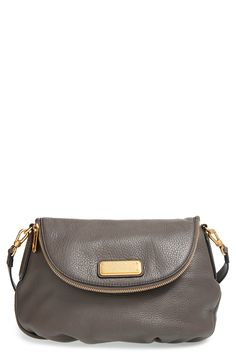 MARC BY MARC JACOBS 'New Q - Natasha' Crossbody Bag Faded Aluminum
