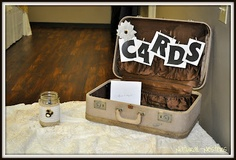 wedding shower idea-- suitcase for cards.