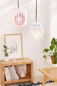 Printed Paper Lantern Pendant