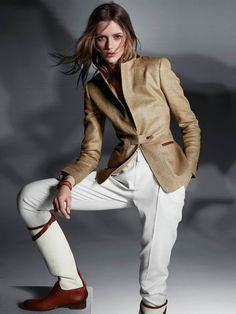 Who doesn't love the equestrian look from classic to S&M chic. Massimo Dutti's new collection is a streetwear take on the sporting classic, models wear capes, blazers, riding boots and leather footwear.