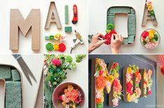 Como decorar letras de craft con flores naturales. Taller de decoracion de flores naturales. Letras Craft #sweetdreammoment  Encuentra  letras craft en nuestra SHOP: www.sweetdreammoment.com