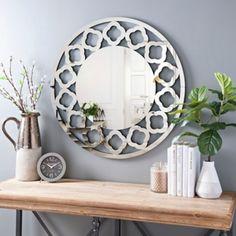 Quatrefoil Round Beveled Wall Mirror | Kirklands