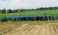 The solar-powered irrigation system that is soon to be operational in Mindanao. (Contributed photo)