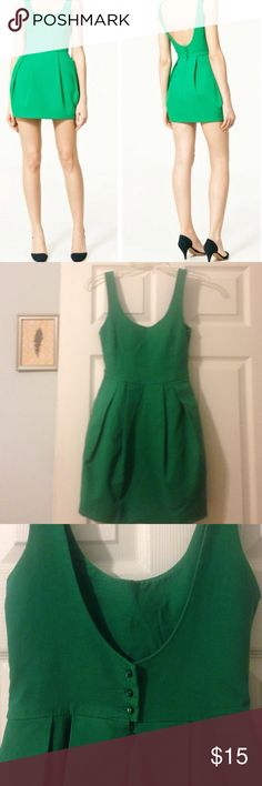 Gorgeous Bubble Mini Dress by Zara 🌷 Gorgeous Bubble Mini Dress by Zara. Dry clean only. Pockets on each side. Very short but still classy. Measurements in photos. A little darker green then the catalog photo (first picture). No filters in the other photos. Worn but in very good condition Zara Dresses Mini